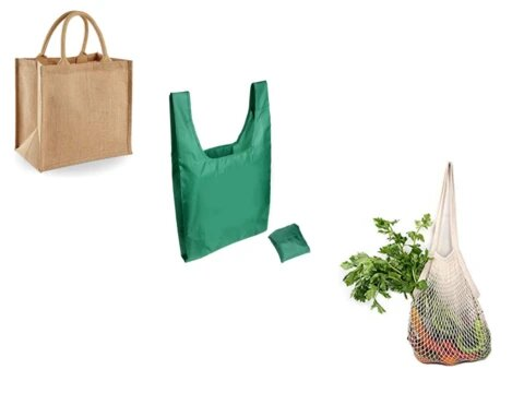 Tote Cotton Shopper Reusable Bag For Life /'Out with the old bag/' shopping bag