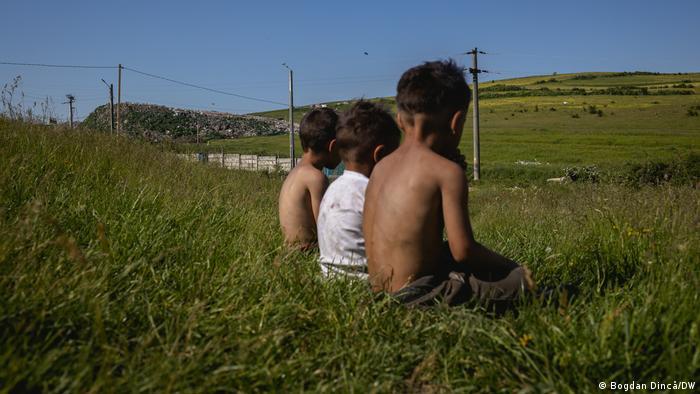 Roma children, Pata Rât, Cluj, Romania